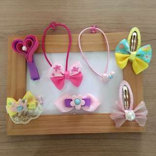 7 pcs hair accessories for girl