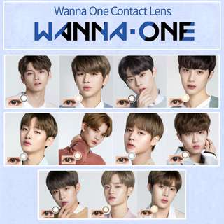 Wanna One x Lens Nine Contact Lens Full Set Photocard,Poster and Bromide