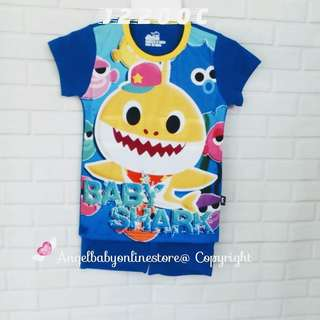 (Nett Price) Baby Shark Dark Blue Boy Set