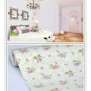 Obral wallpaper 45cmx10m harga grosir