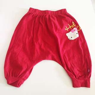 Authentic hello kitty harems pant