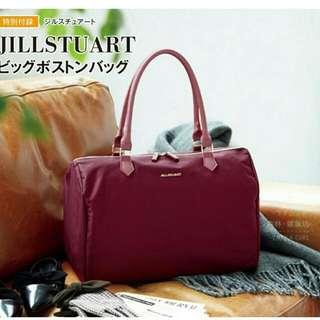 日本雜誌附錄~日本otona MUSE雜誌附錄jillstuart酒紅色手提包,免運費活動中