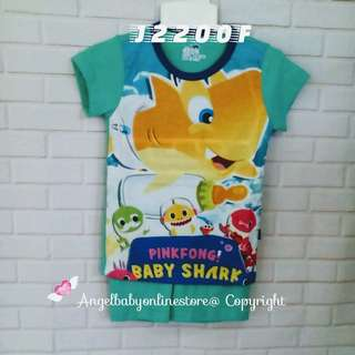 (Nett Price) Baby Shark Water Green Boy Set