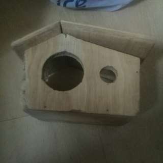 Hamster wooden house or hideout