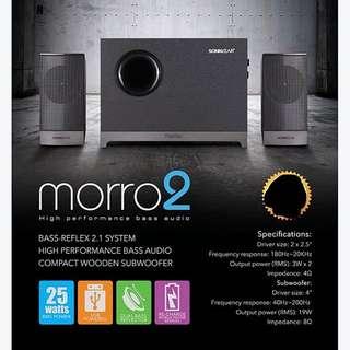 Brand New!! SONIC GEAR Speaker 2.1 Bluetooth MORRO 2