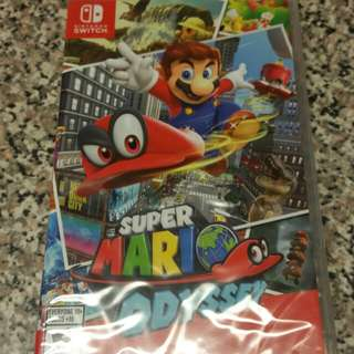 New Sealed Super Mario Odyssey Nintendo Switch Video Game