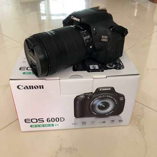 Cheap Canon 600D + upgraded lens