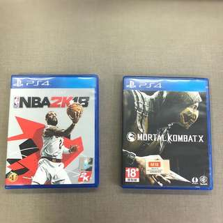 Nba 2k18 and Mortal Kombat X