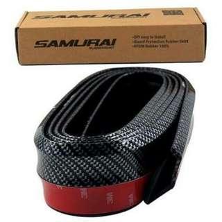 Samurai rubber lip carbon type