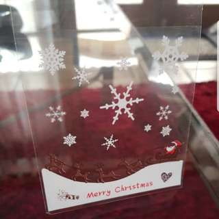 New Last Batch Brown Reindeer Sleigh Christmas Cookie Plastic Pouch 10cm
