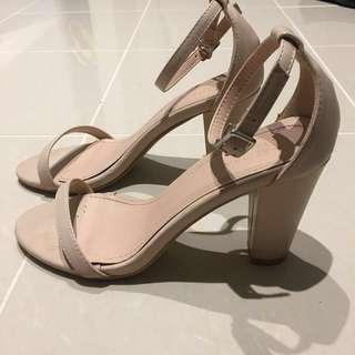 Zalora basic nude heel sandals