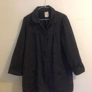 日本古著圓點大衣外套
