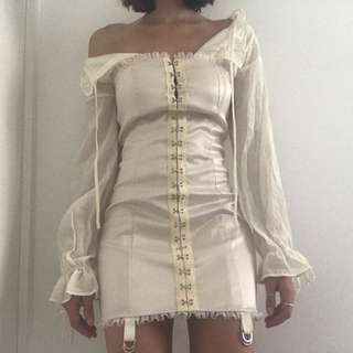 CORSET DRESS WITH UNDERSHIRT