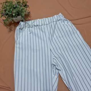 High waisted Striped Pants Trousers