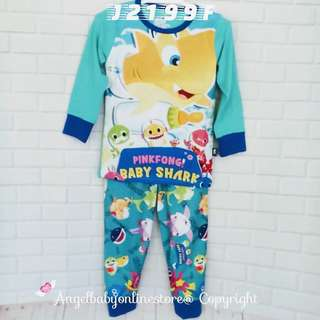 (Nett Price) Baby Shark Water Green Sleepwear