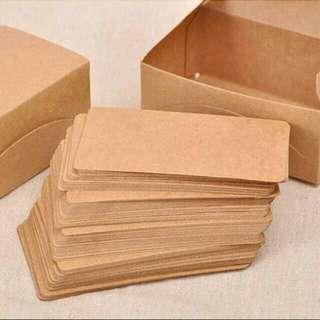 Blank kraft paper card set