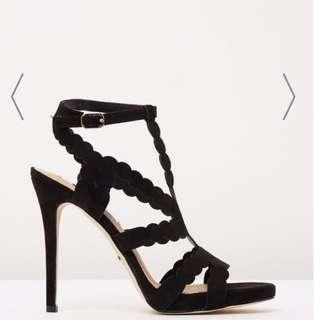 Daria Black Suede Heels