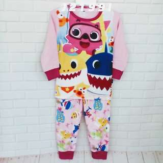 (Nett Price) Baby Shark Light Pink Sleepwear (2Y to 12Y)