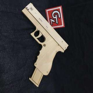 Glock 17 Rubber Band Toy Gun