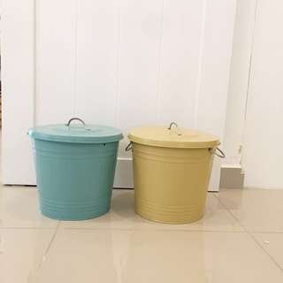 Bins for toys or storage in kids room