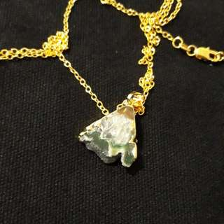 Amethyst pendant with 18K goldchain