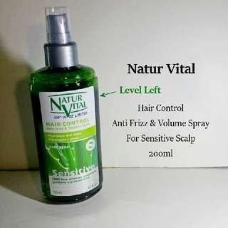 80% Left Natur Vital Sensitive Spray Leave In Hair Conditioner Aloe Vera Shine Hydration Sellzabo Natural Scalp Care Dry