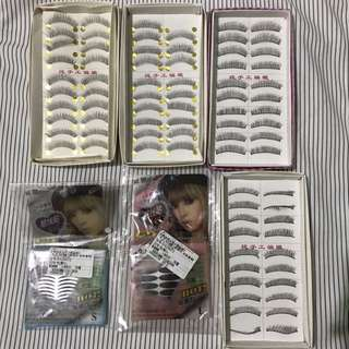 [SET] false eyelashes & double eyelid stickers