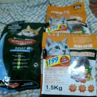 澳洲進口貓食斯博康、吉妮斯、3包只要500元
