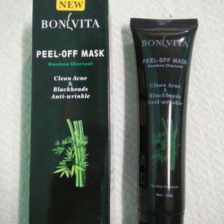 BONVITA PEEL OFF MASK (charcoal, for blackheads and whiteheads)