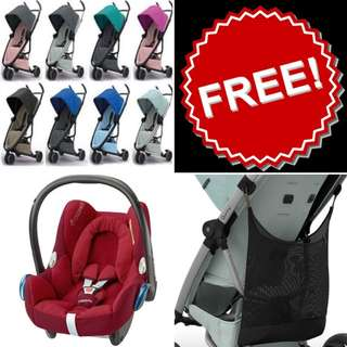 LIFE TIME WARRANTY💯💯💯👶👦👨👴  Brand NEW Quinny Zapp Flex FREE Maxi Cosi Cabriofix + Quinny Shopping Bag (LIMITED UNITS) only RM2,799🤹♂️😁