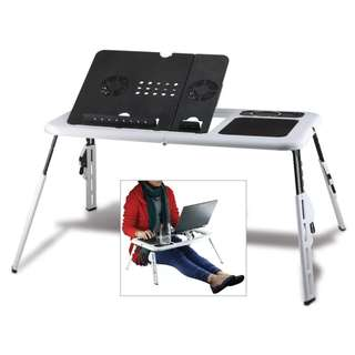 Compact foldable and collapsible laptop table