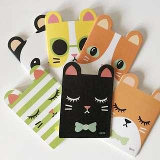 Animal shaped notebooks