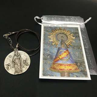Religious Medallion Necklace from Spain