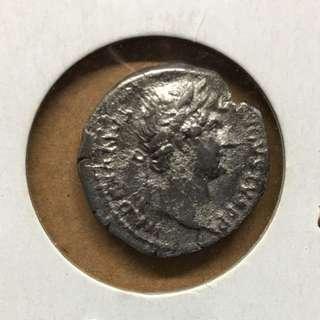極罕有早期古羅馬銀幣!羅馬帝國最鼎盛時代Hadrian皇帝公元128年Denarius銀幣