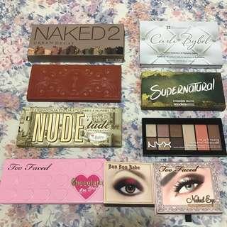 Eyeshadow palettes declutter