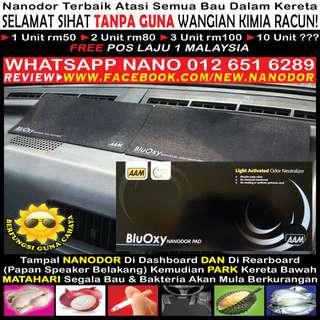 Nanodor Atasi Bau Kereta Busuk Rokok Durian Ikan Ayam Lembab Hapak Plastik Getah Tanpa Racun Kimia