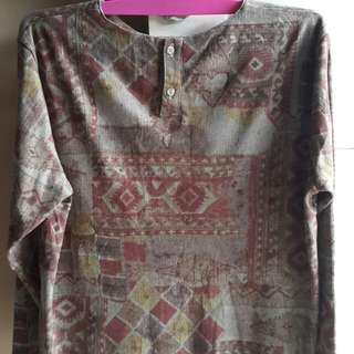 Cropped blouse motif vintage