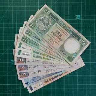 90年代舊版鈔票10枚