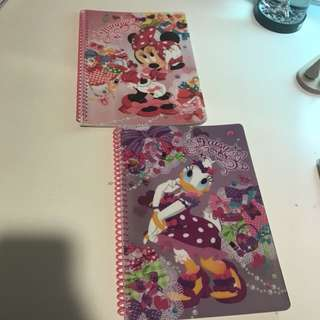 New tokyo disney minnie mouse and daisy duck notebook