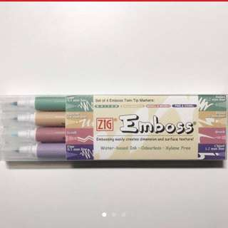 Embossing markers