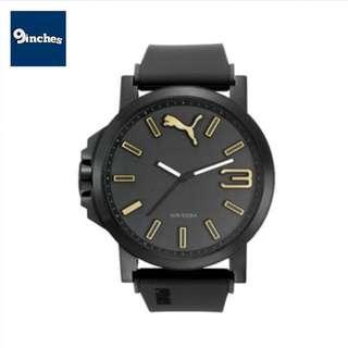 限時代購 PUMA Ultrasize 50 大錶面 黑底金金字 聖誕禮物首選 男女合戴 50mm錶面