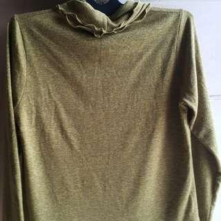 Preloved cropped blouse animal print