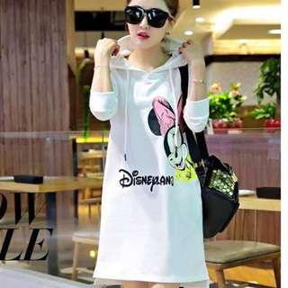 Mickey Mouse Bubble Print Hoodie Dress