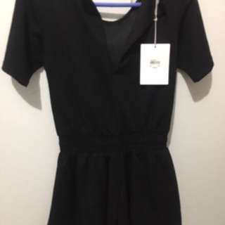 Staple The Label Black Playsuit new with Tags