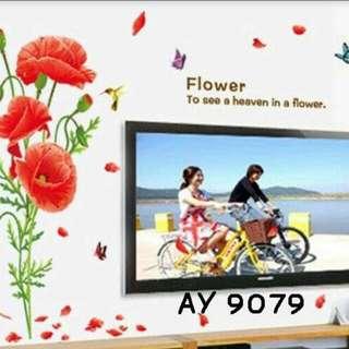 Wall Sticker Uk. 60x90cm Motif See Heaven In Flowers