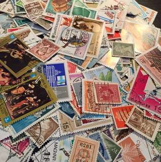 500 used stamps NON DUPLICATE