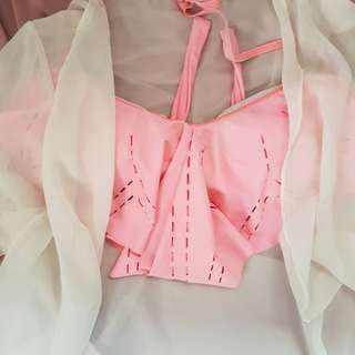 100php bundle - Coco cabana pink bra + beige cover