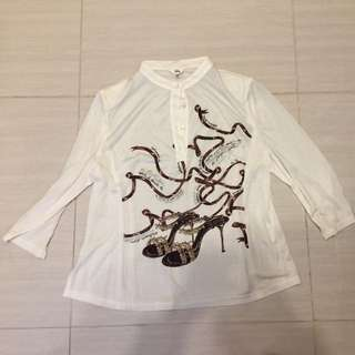 Lilly白色長袖衫