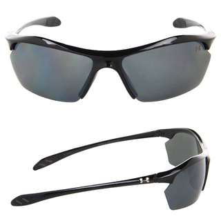 Under Armour Zone XL Polarized Sunglasses   Shiny Black / Gray Polarized Multiflection