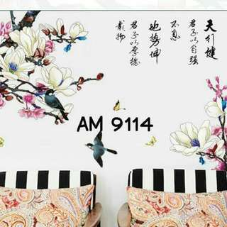 Wall Sticker Uk. 60x90cm Motif Chinese Painting Walet